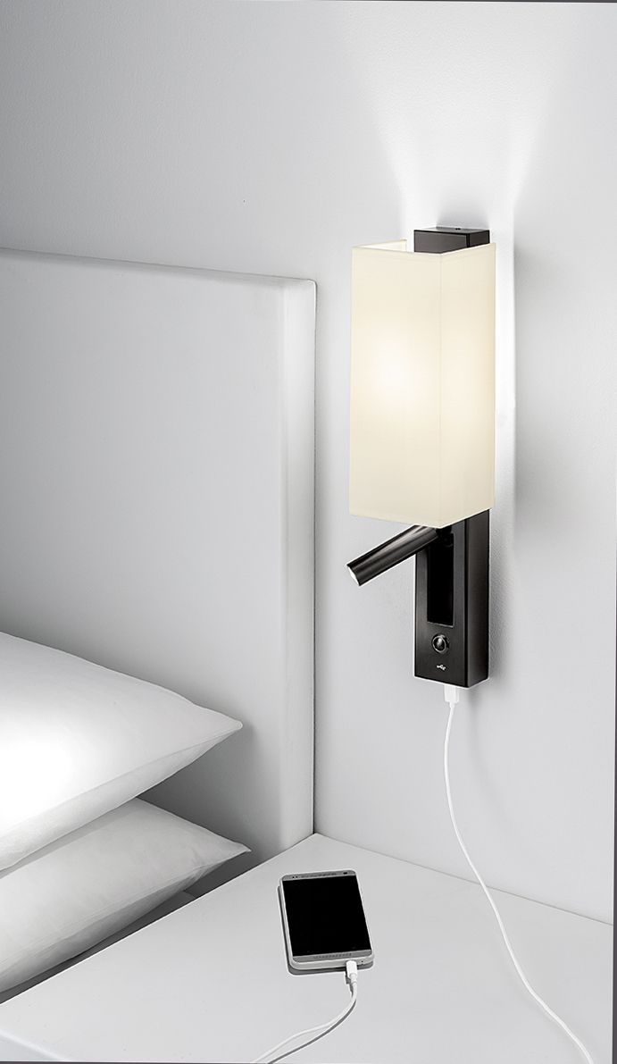 Led Dock Combination By Chelsom Is A Slender Guest Room Or Cabin Wall Light Ideal For The Bedside W Bedside Wall Lights Bedroom Light Fixtures Bedside Lighting