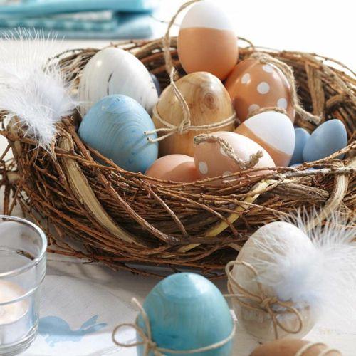 Ostern 2014 – coole Osterdeko selber basteln - ostern dekoration frisch eier bunt bemalt