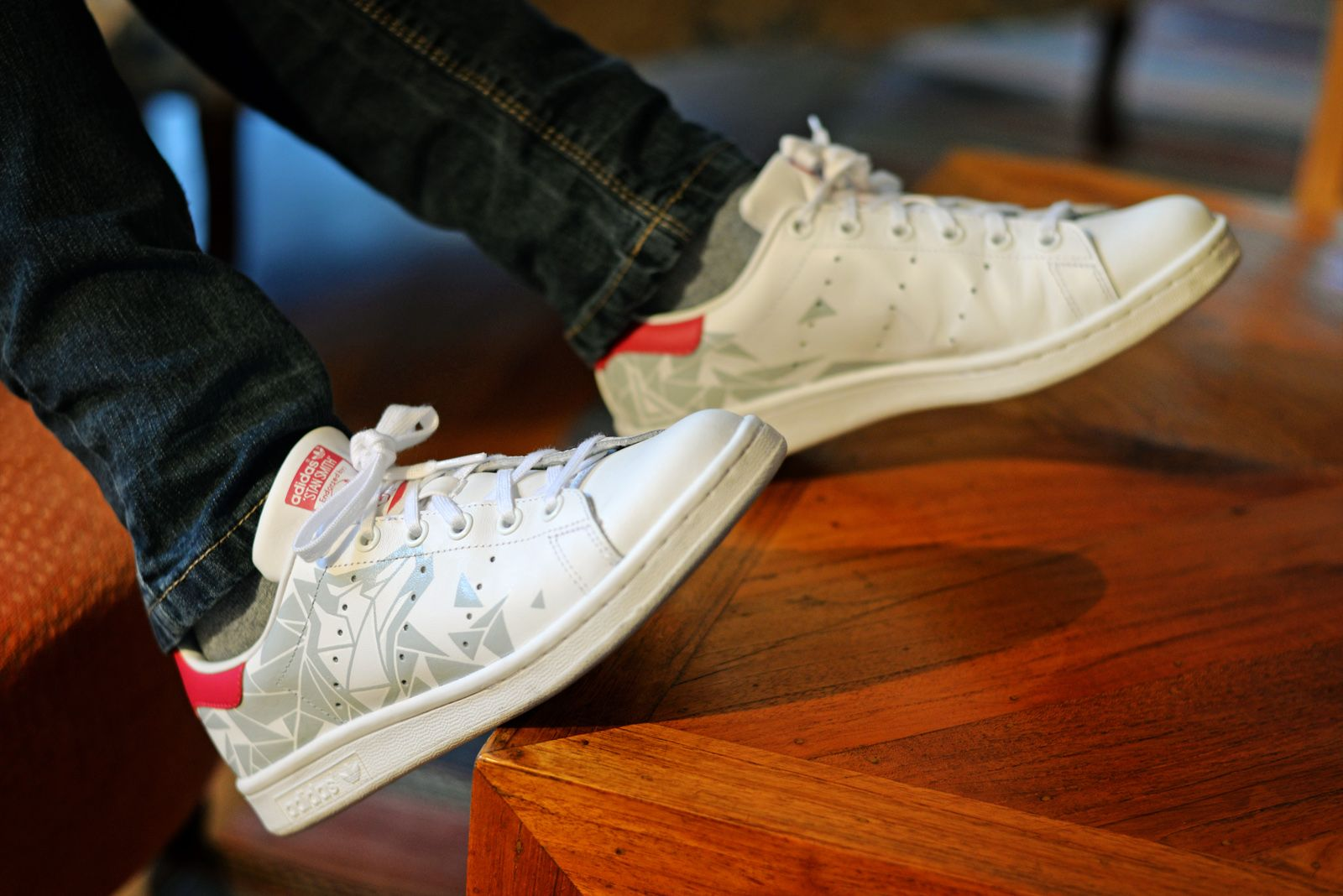 Custom #StanSmith by LBP Geometric & faceted pattern