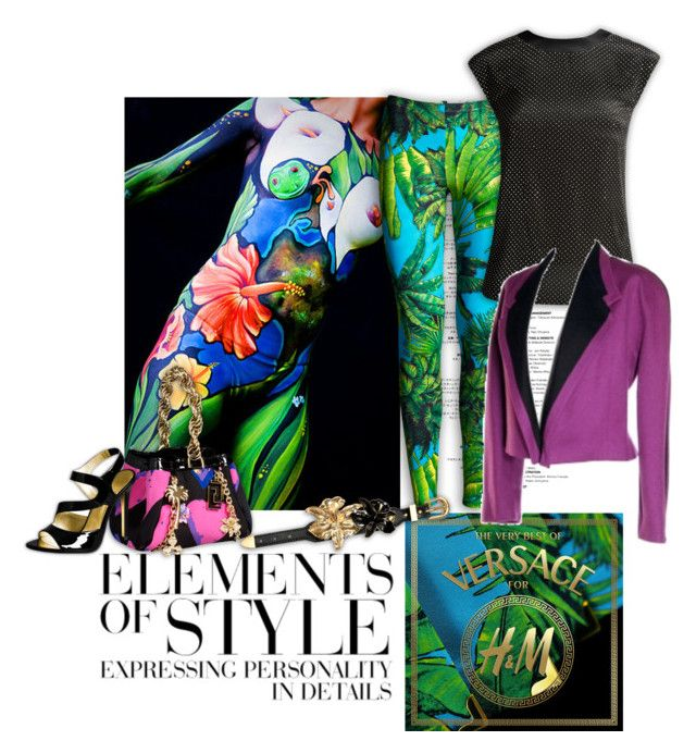 """""""Versace - Elements of style"""" by sheepsy ❤ liked on Polyvore featuring Vera Wang, H&M, Versace and versace"""