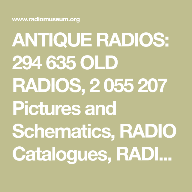ANTIQUE RADIOS: 294 635 OLD RADIOS, 2 055 207 Pictures and ... on