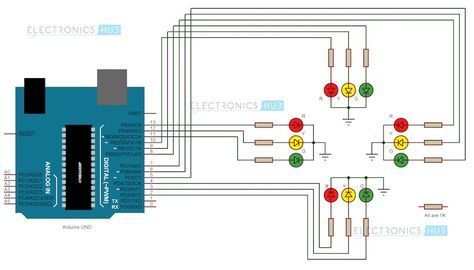 arduino traffic light controller traffic light arduino and rh pinterest com traffic light wiring schematic traffic light wiring schematic