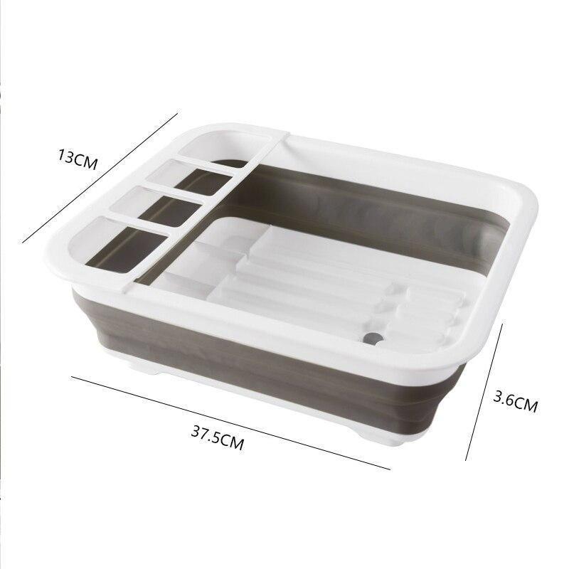 Foldable Dish Rack Kitchen Storage Holder