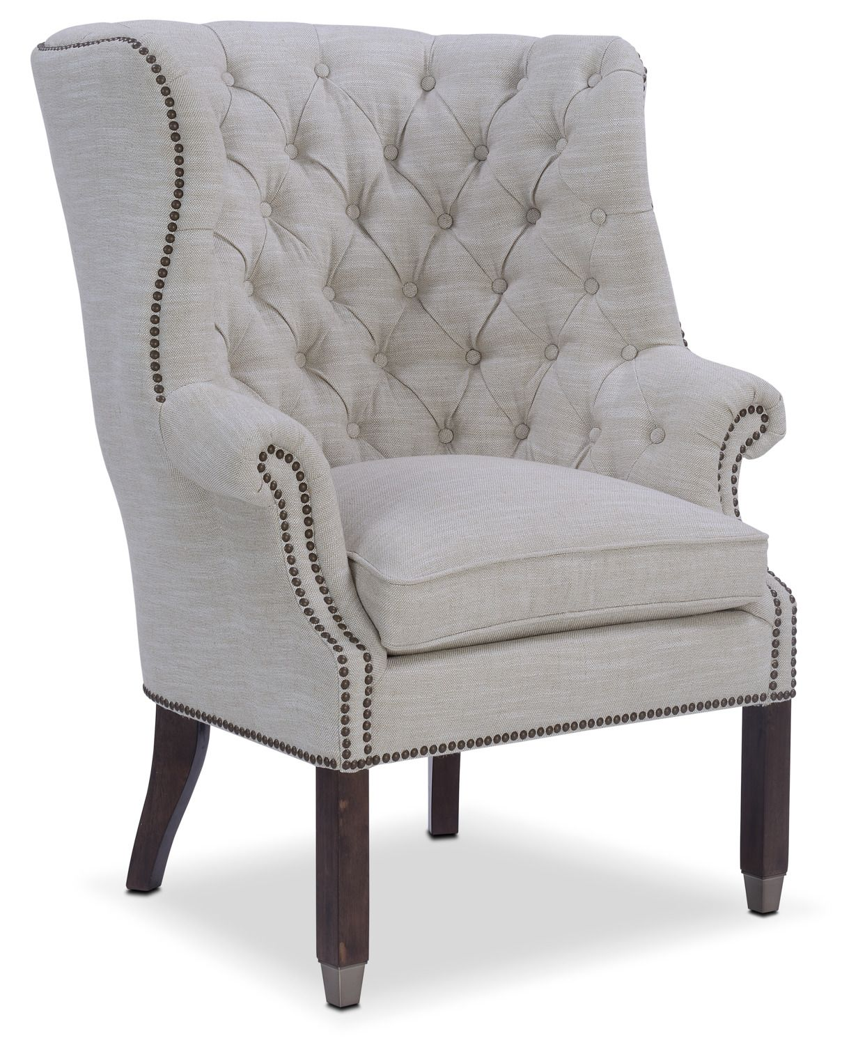Living Room Furniture Cranston Accent Chair Ivory