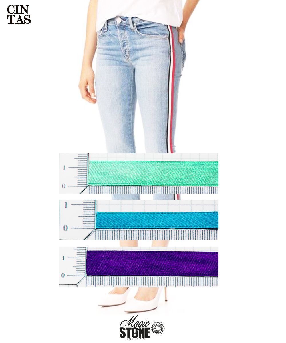 53ec5fdf ¡Las #cintas en los costados de prendas como jeans, estarán muy presentes en  las vitrinas más llamativas! .Comienza ahora por renovar tus coleciones.
