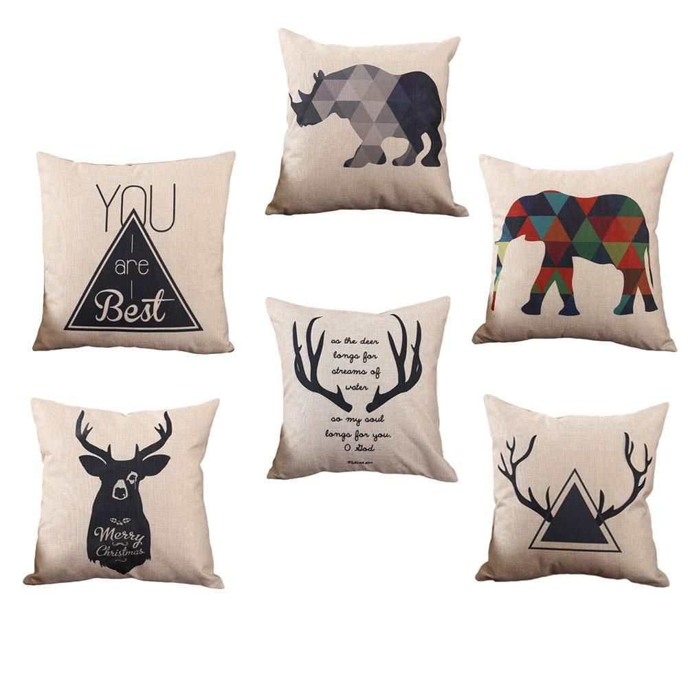 Animal Print Geometric Pillow Case Covers   Pillow cases, Pillows ...