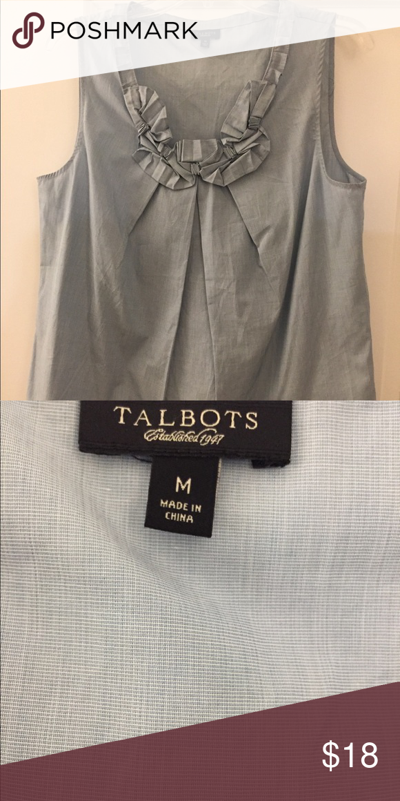 b5a548cfa5f91 Talbots sleeveless Top size M Talbots Sleevelss size M top. Dress it up or  dress it down. Pair it with white ankle pants! Check out my closet!