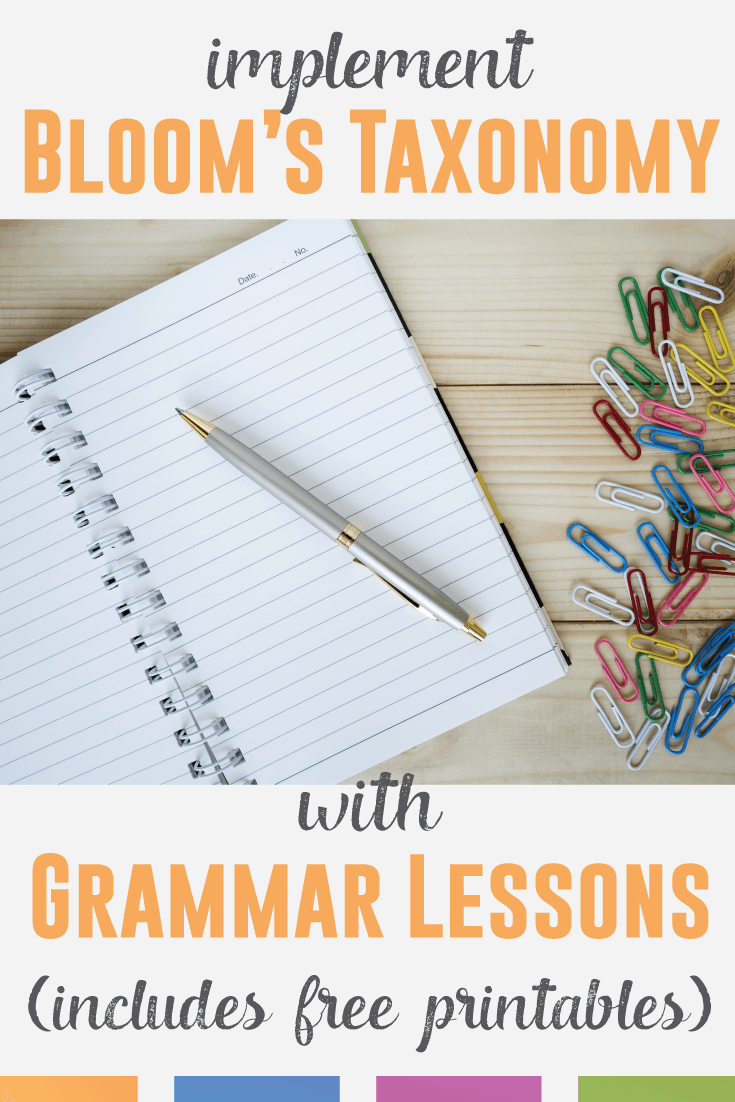 teaching grammar via bloom 39 s taxonomy middle school grammar teaching grammar grammar lesson. Black Bedroom Furniture Sets. Home Design Ideas