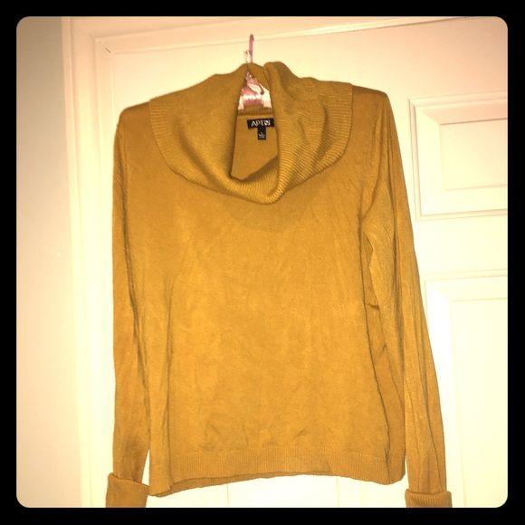 Mustard yellow cowl neck sweater Mustard yellow super cute cowl ...