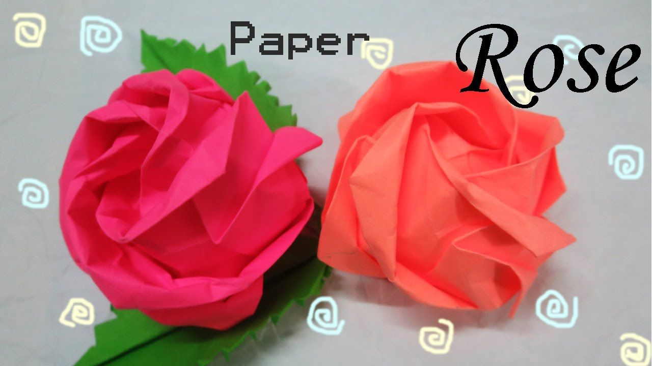 How To Make Origami Rose Flower Simply Handicrafts Idea Origami