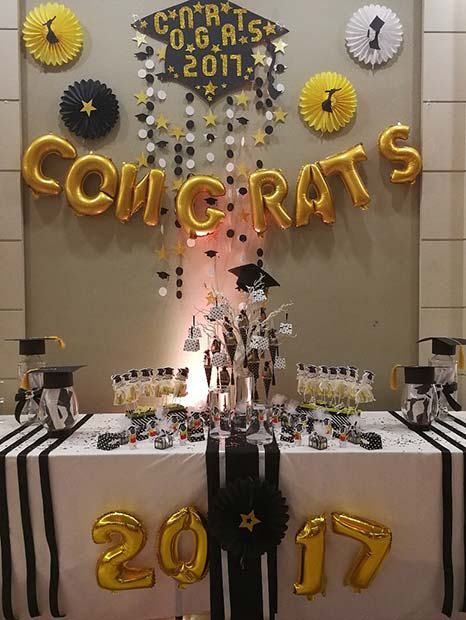 21 Awesome Graduation Party Decorations And Ideas 13 Graduation Party Graduation Party Table High School Graduation Party Decorations Graduation Party Decor