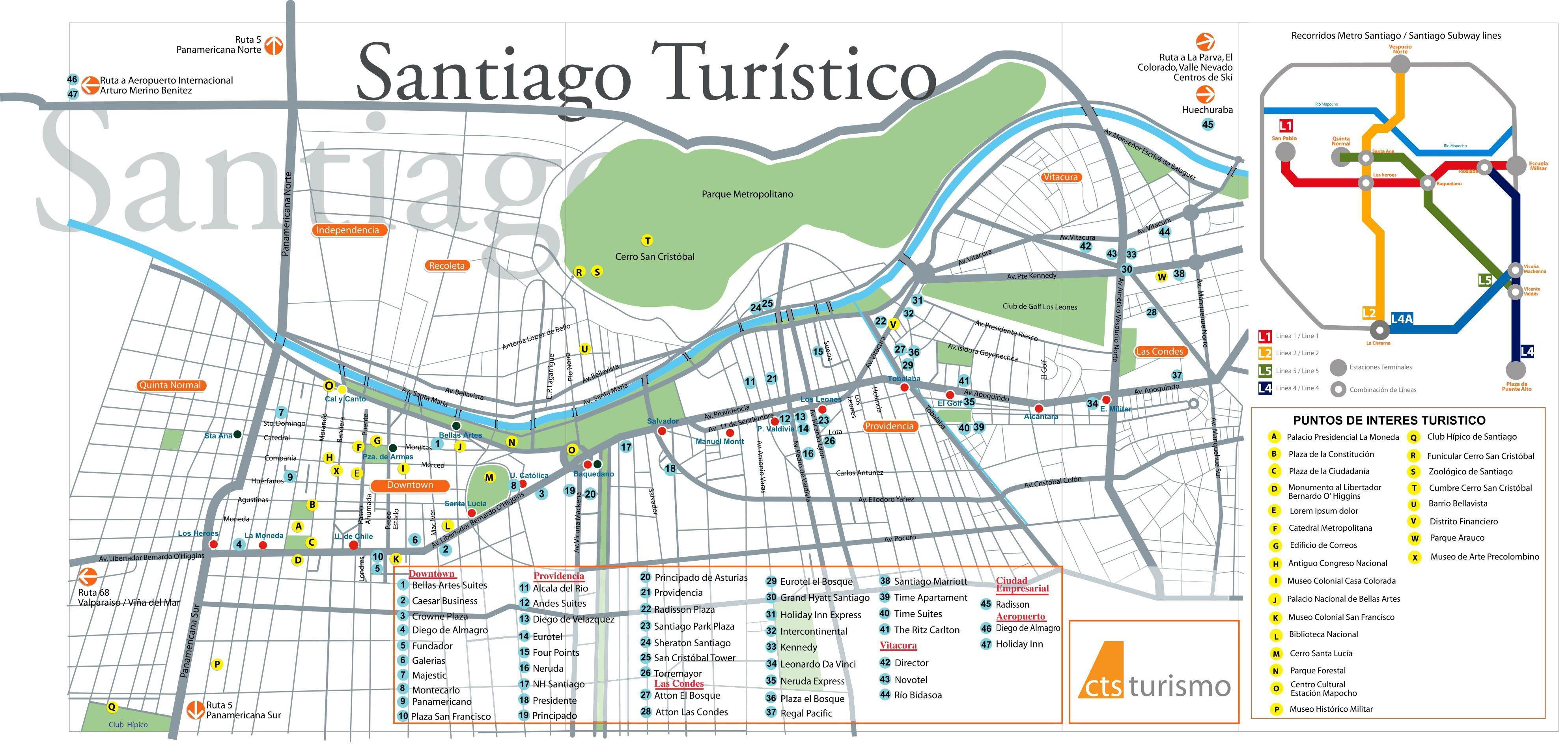 Santiago De Chile Mapa Turistico.Mapa Turistico De Santiago In 2019 Chile Santiago Map