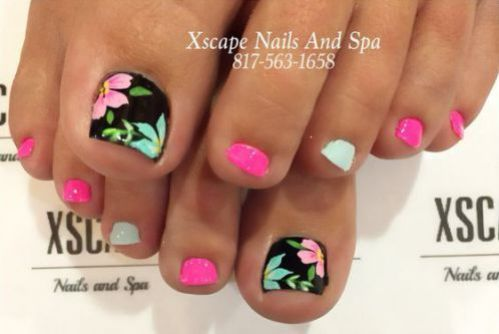Uñas De Pies Decoradas Diseño De Uñas Nails