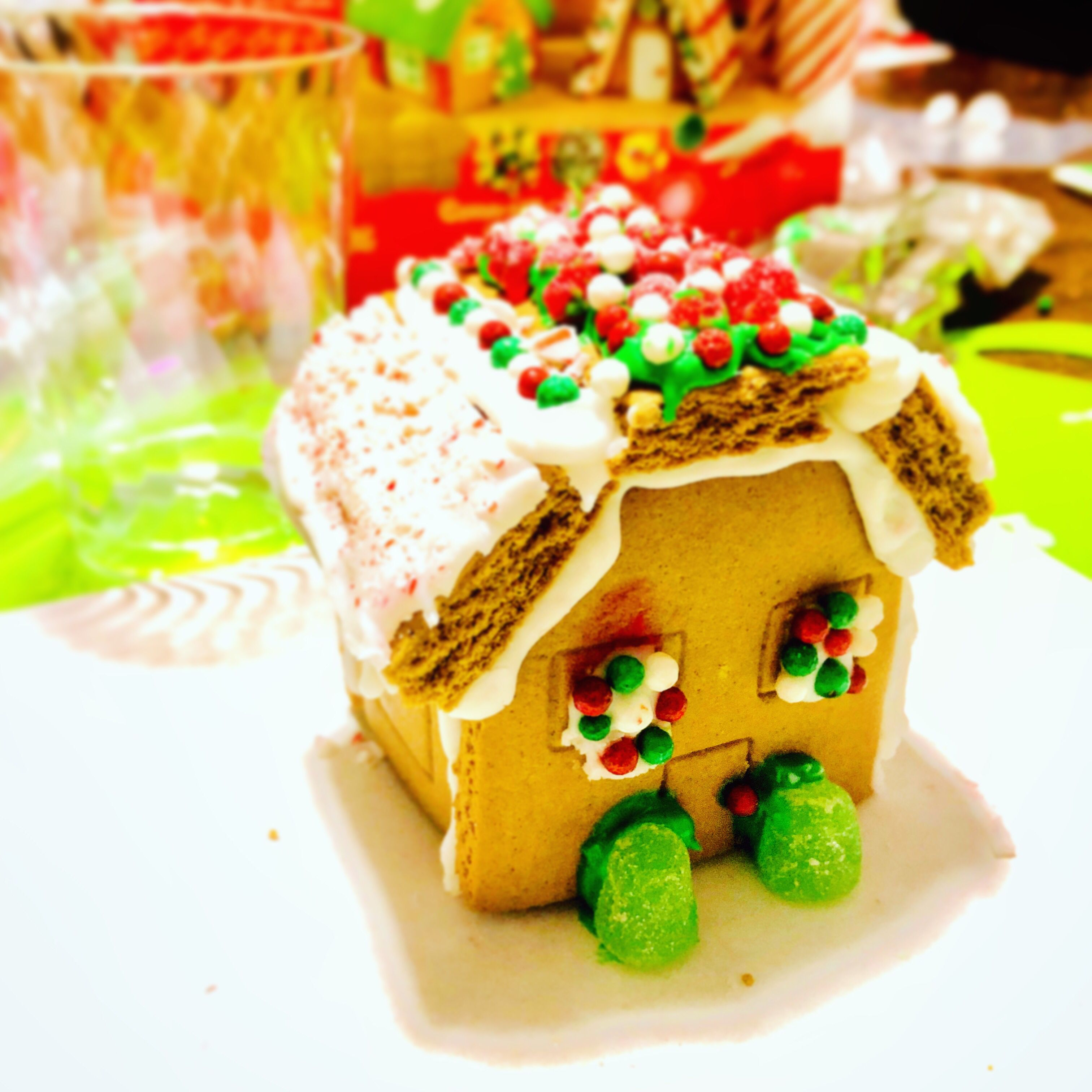 Just a little mini gingerbread house I made this winter