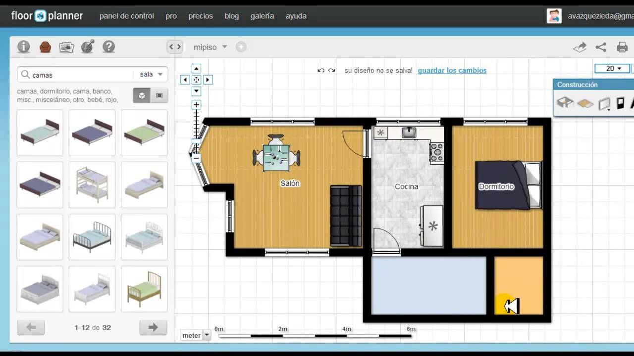 Tutorial De Floorplanner En Español Hacer Planos De Casas Plano De Arquitecto Plano De Vivienda