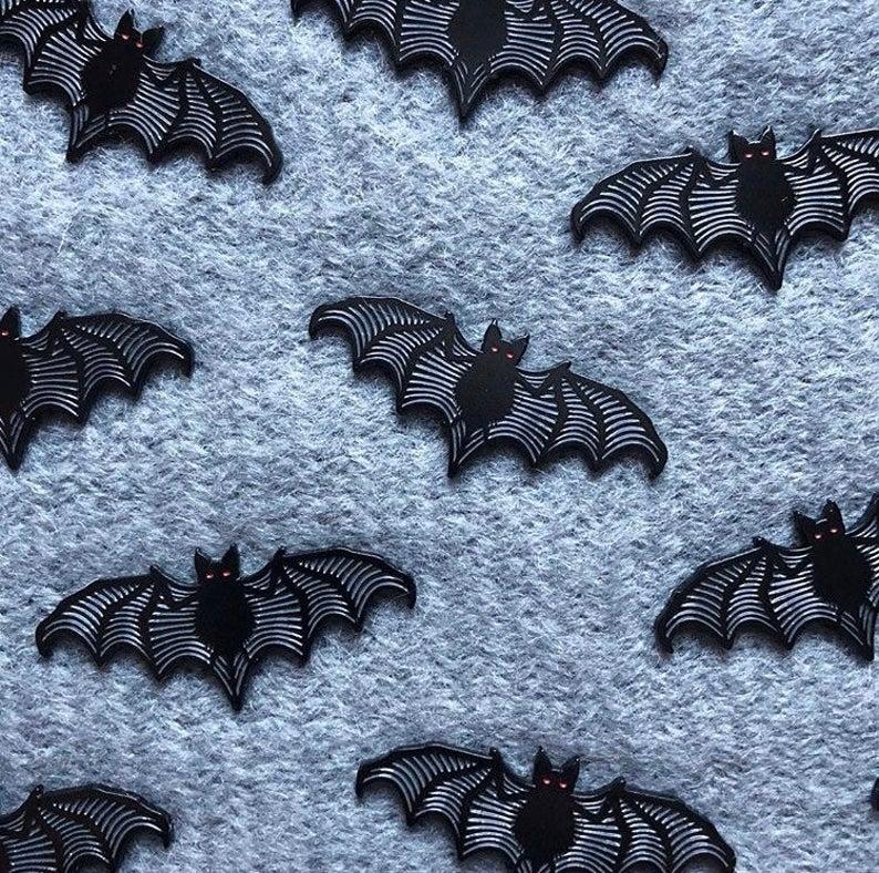 A Little Batty Goth Bat Enamel Lapel Horror Pin Lapel Pin Etsy Lapel Pins Soft Enamel Pins Soft Enamel