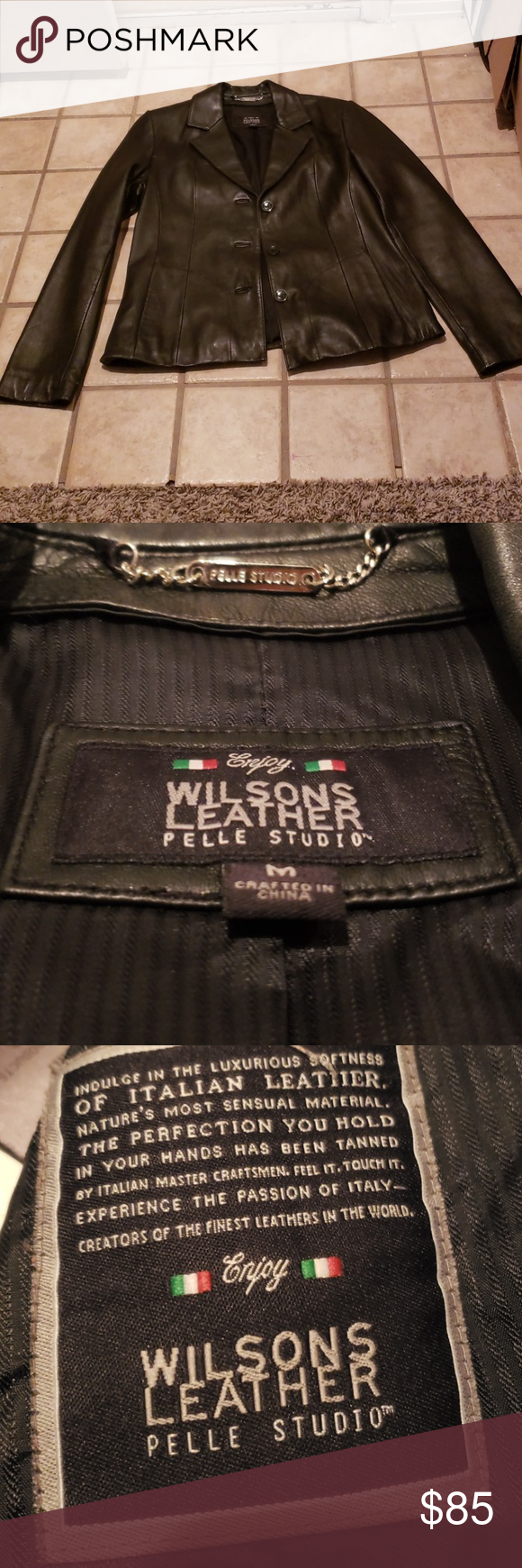 WINTER SALE! 10!Vintage Wilson Leather Jacket💀 Wilsons
