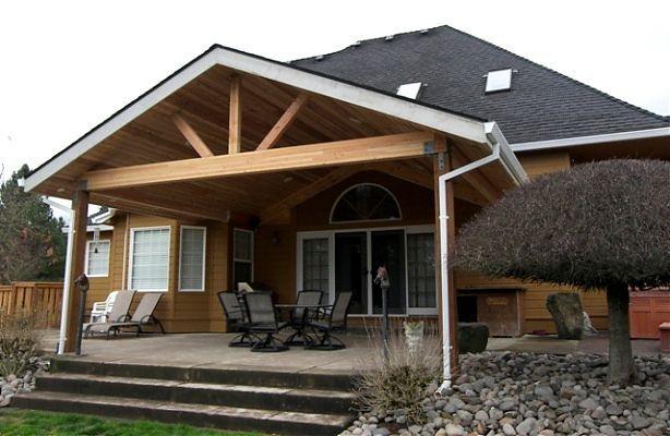 8 overrated interior design trends patios design trends for Gable patio designs