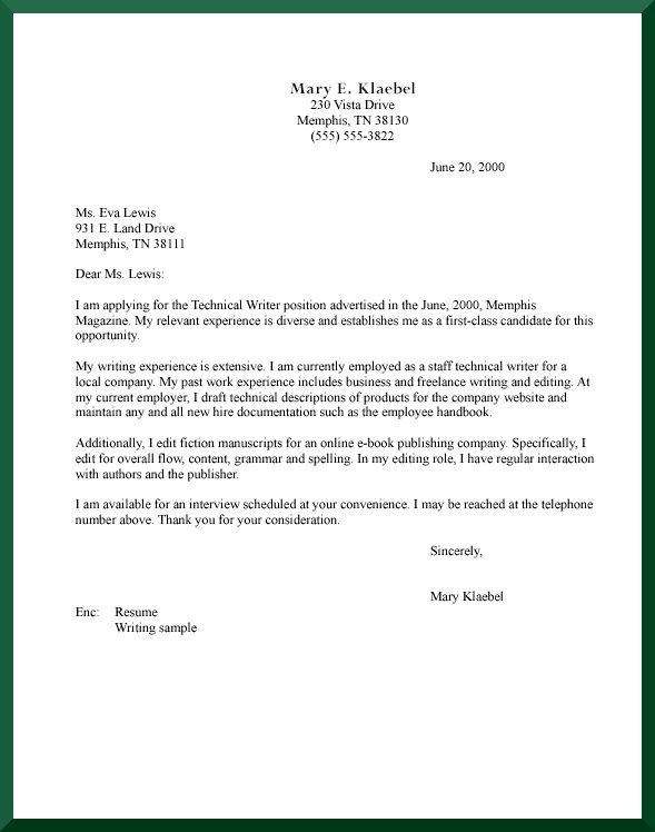 Cover Letter Format  Creating an Executive Cover Letter Samples  Professional Development