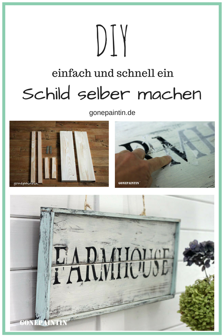 DIY Holzschild