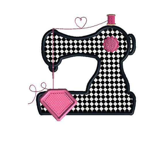 Sewing Machine Applique Machine Embroidery Design-INSTANT DOWNLOAD ...