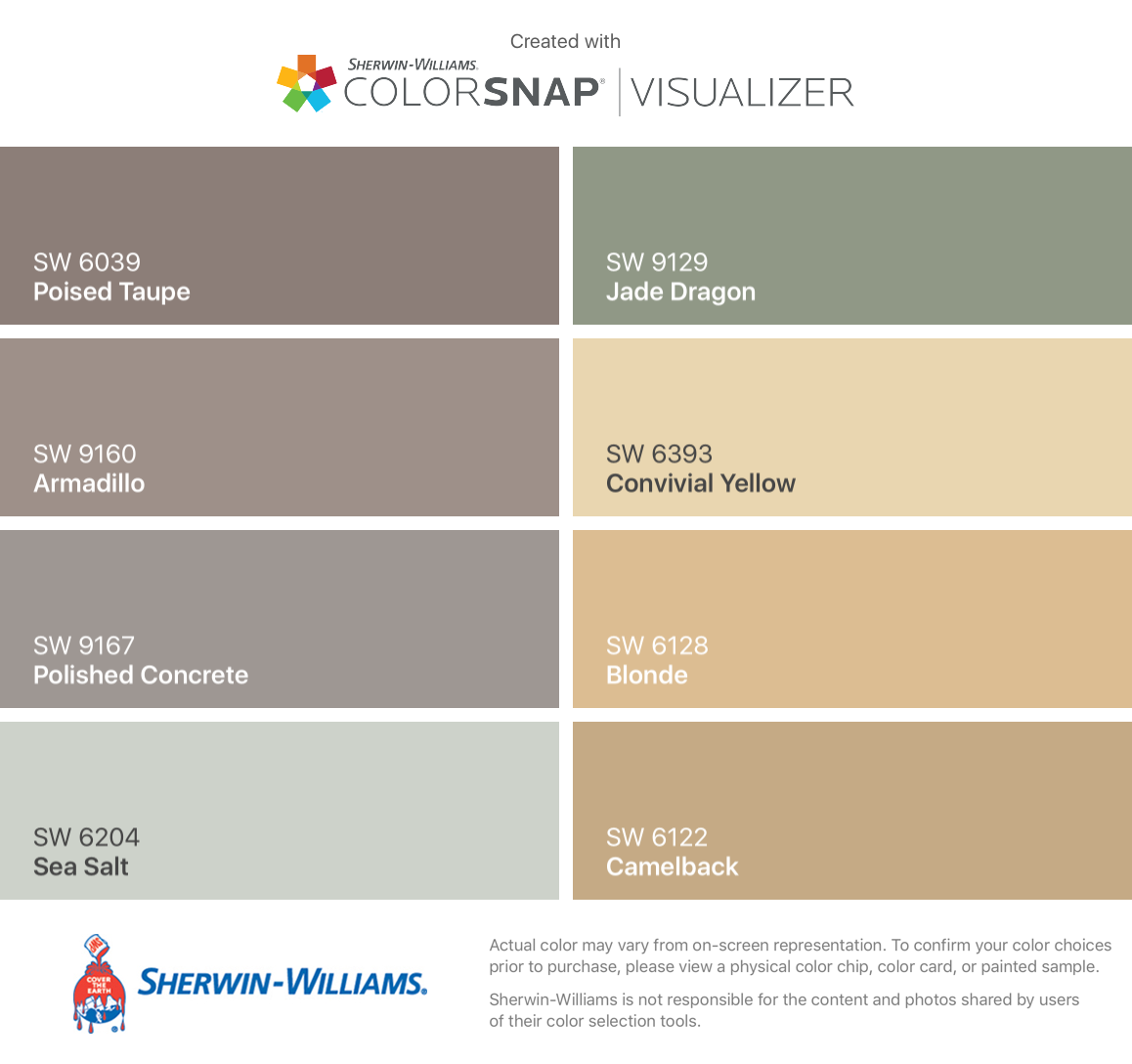 I Found These Colors With Colorsnap Visualizer For Iphone By Sherwin Williams Poised Taupe Sw 6039 Armadillo 9160 Polished Concrete 9167