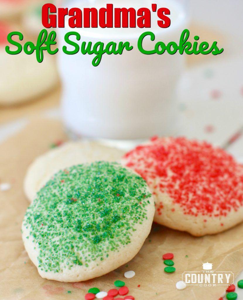 Grandma S Soft Sugar Cookies Recipe