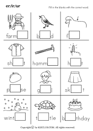 Image result for free phonics worksheets er ir ur ...