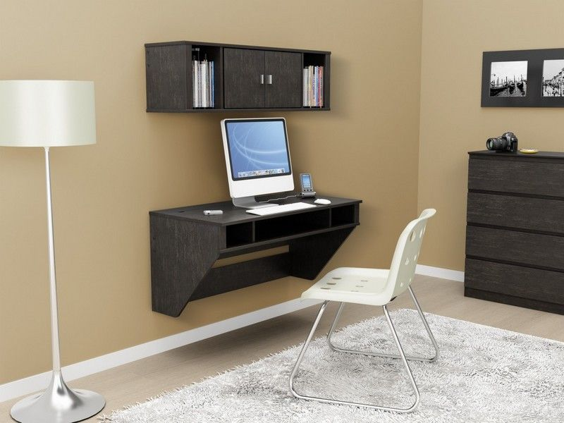 office floating desk small. Office, Fabulous Floating Desk And Shelves For Minimalist Home Office Decoration Ideas In Small