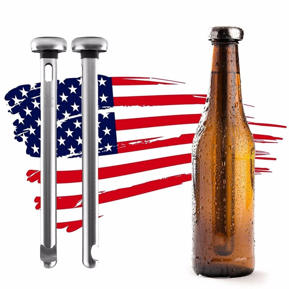 Promotional Gift Stainless Steel Beer Chiller Stick Beverage Cooler Cooling Sticks Accept Small Order Gifts For Beer Lovers Beer Chiller Beverage Cooler