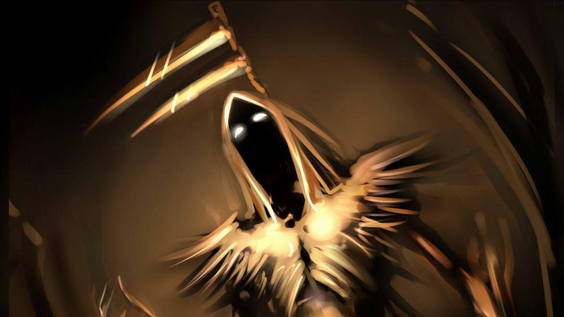 Dark Grim Reaper horror skeletons skull creepy b wallpaper