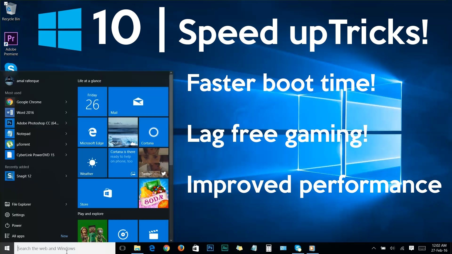 How To Speed Up Your Windows 10 Performance Best Settings Youtube Speed Up Computer Windows 10 Hacks Laptop Windows