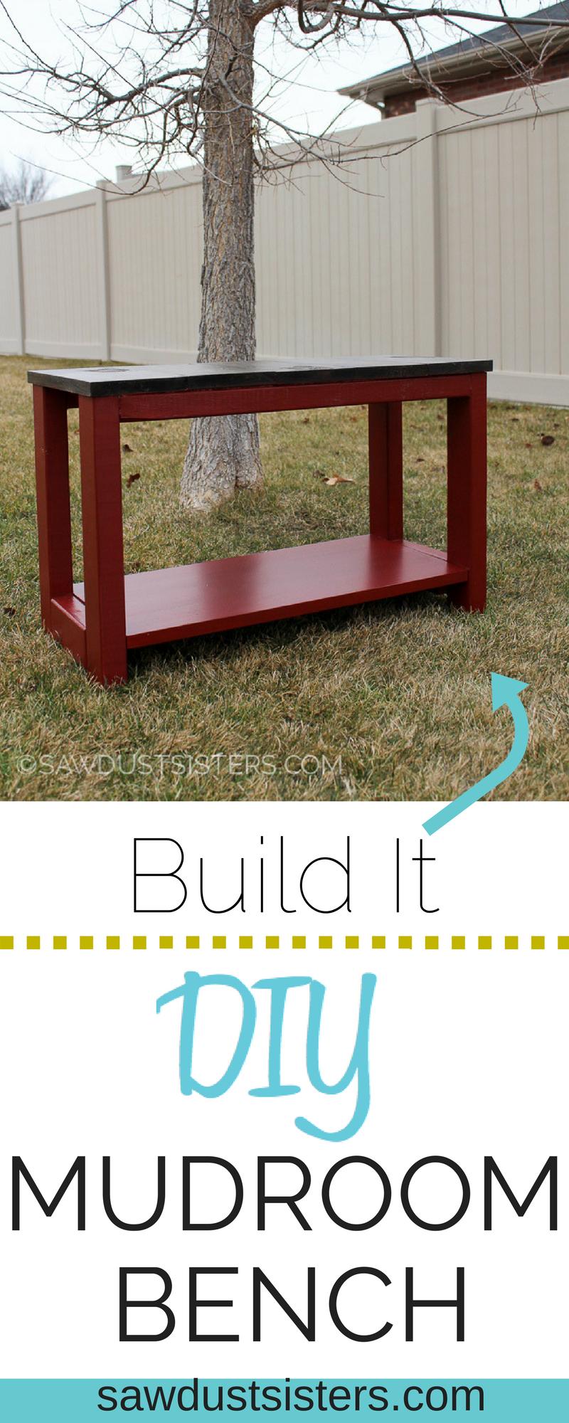 DIY Mudroom Bench from Scrap Wood