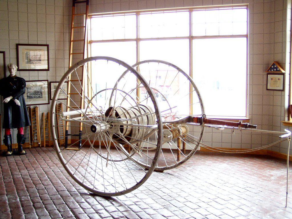 Antique Fire Hose Cart Auto