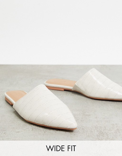 Wide Fit Lava pointed flat mules