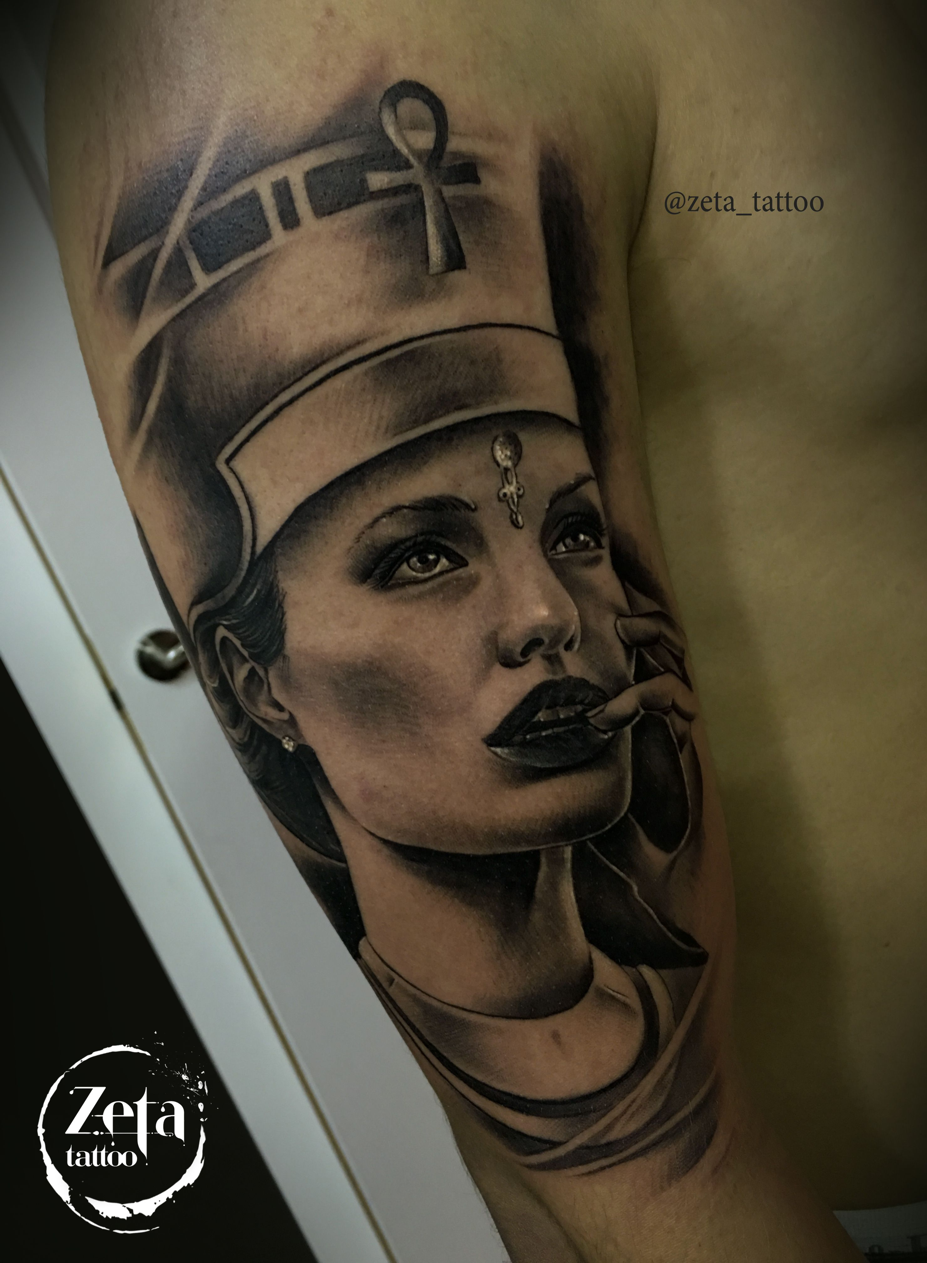 By Zeta Tattoo Wwwfacebookcom Blackandgrey Angelinajolie