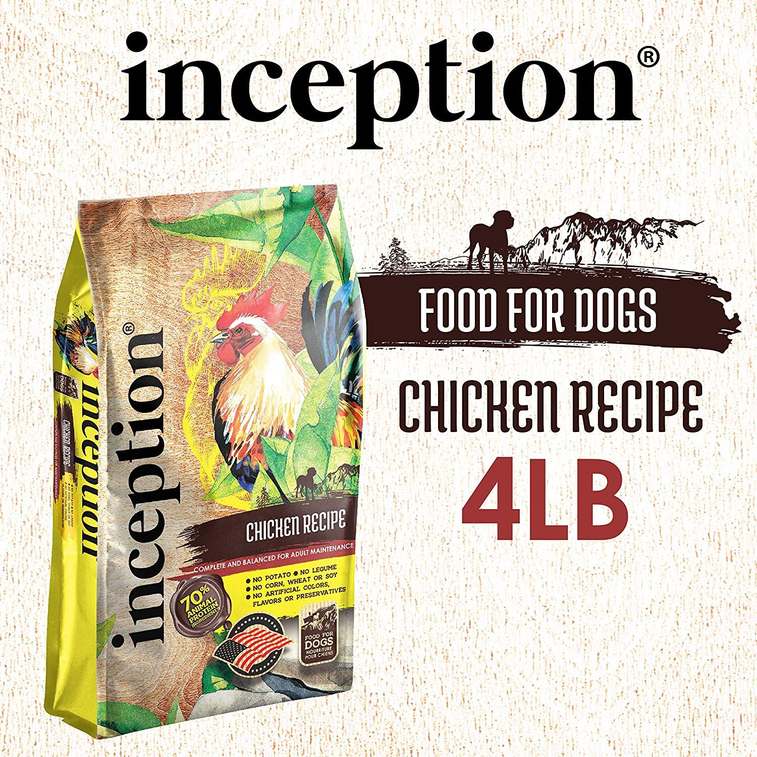Inception dog food chicken 4lb in 2020 dog food recipes