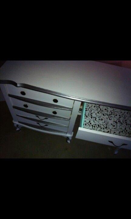 Desk I refinished for my landlords little girls.