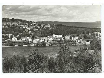 Kongsvinger Utsikt över byn från motsatt strand Normann pg 1957
