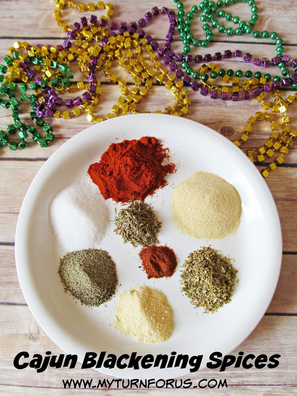 Cajun Blackening Spices are made from ingredients already in your spice cabinet. Mardi Gras Recipe.  Homemade Spice Recipe