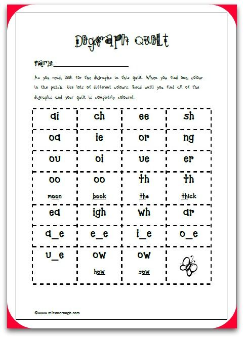 digraph quillt frame School Pinterest Phonics - phonics worksheet