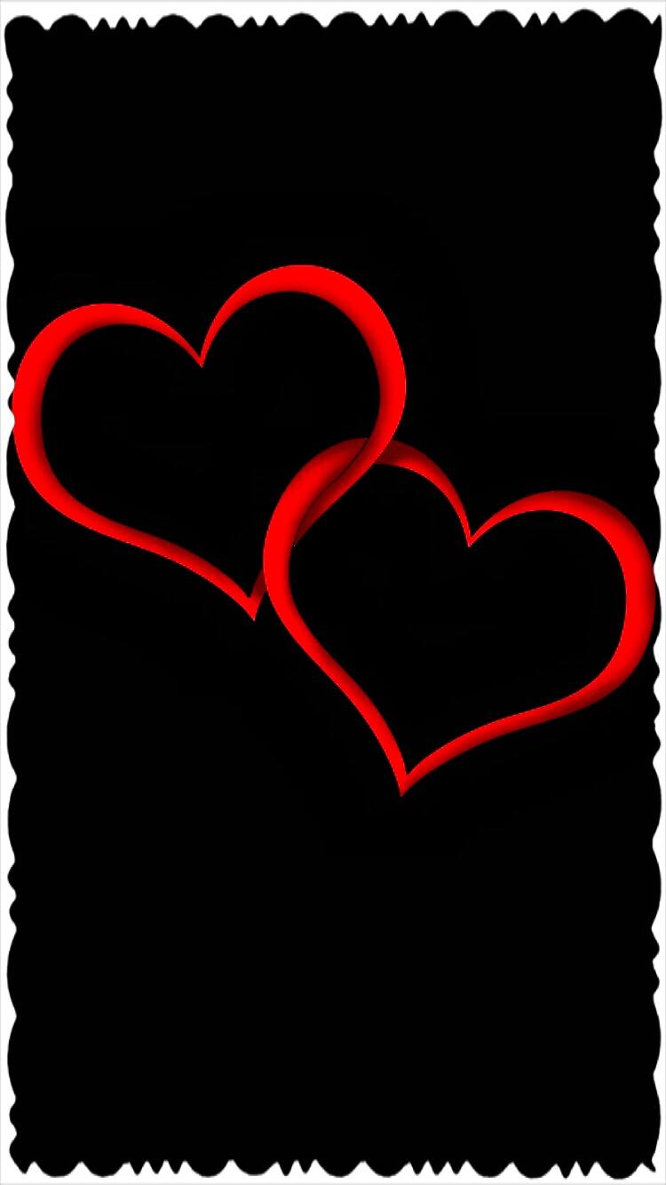2 Red Hearts Iphone Wallpaper Papel De Parede De Coracao Imagens De Amor Logotipo De Monograma