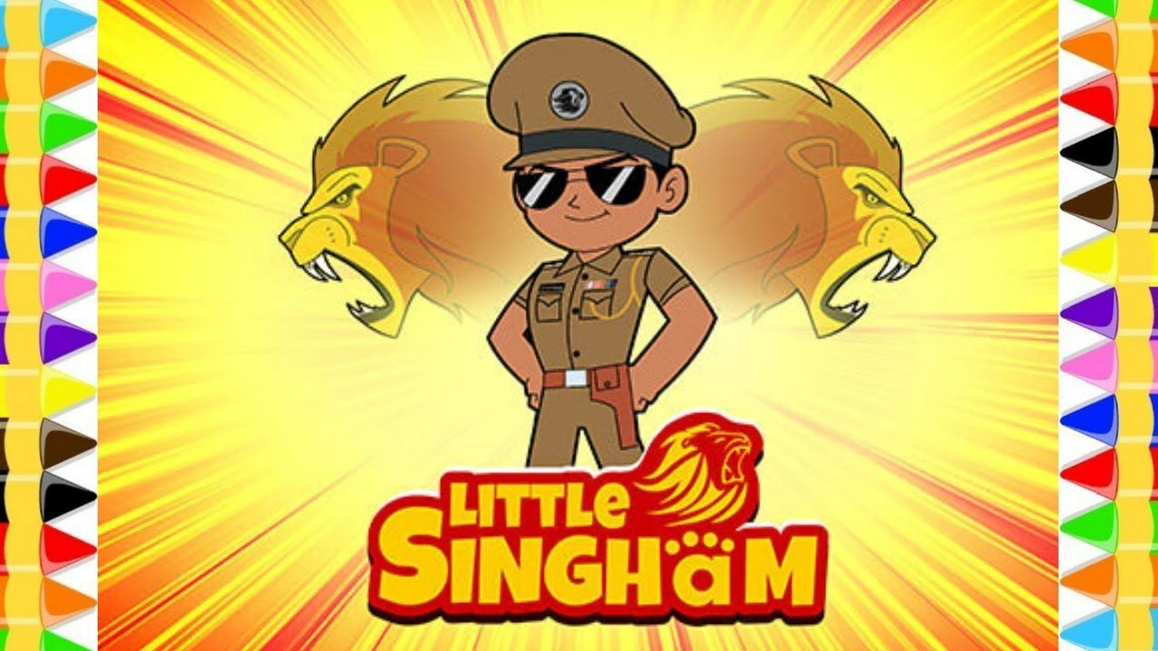 Little Singham Drawing And Colouring Pages Little Singham In Hindi