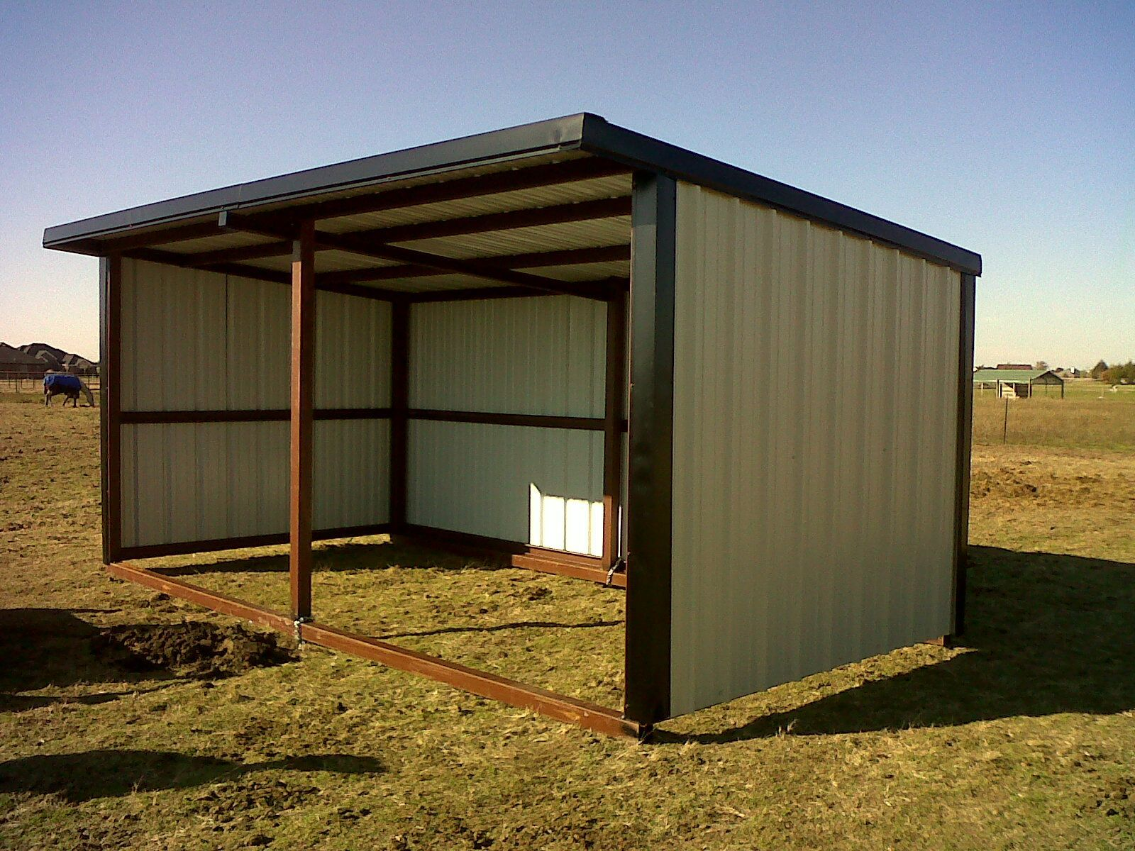 Loafing shed for the barn pinterest animal shelter for Sheds and barns