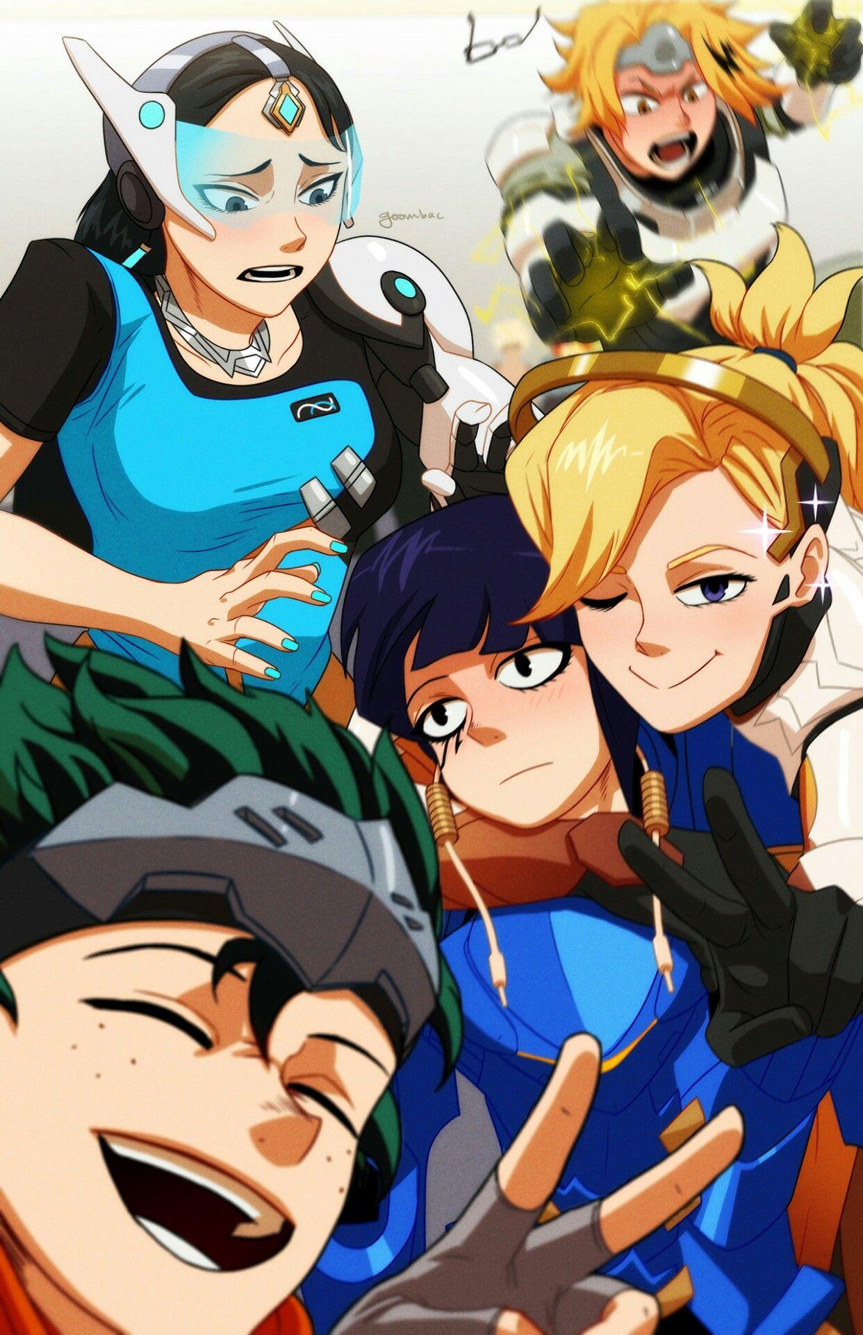 Boku No Hero Academia X Overwatch Mha Anime