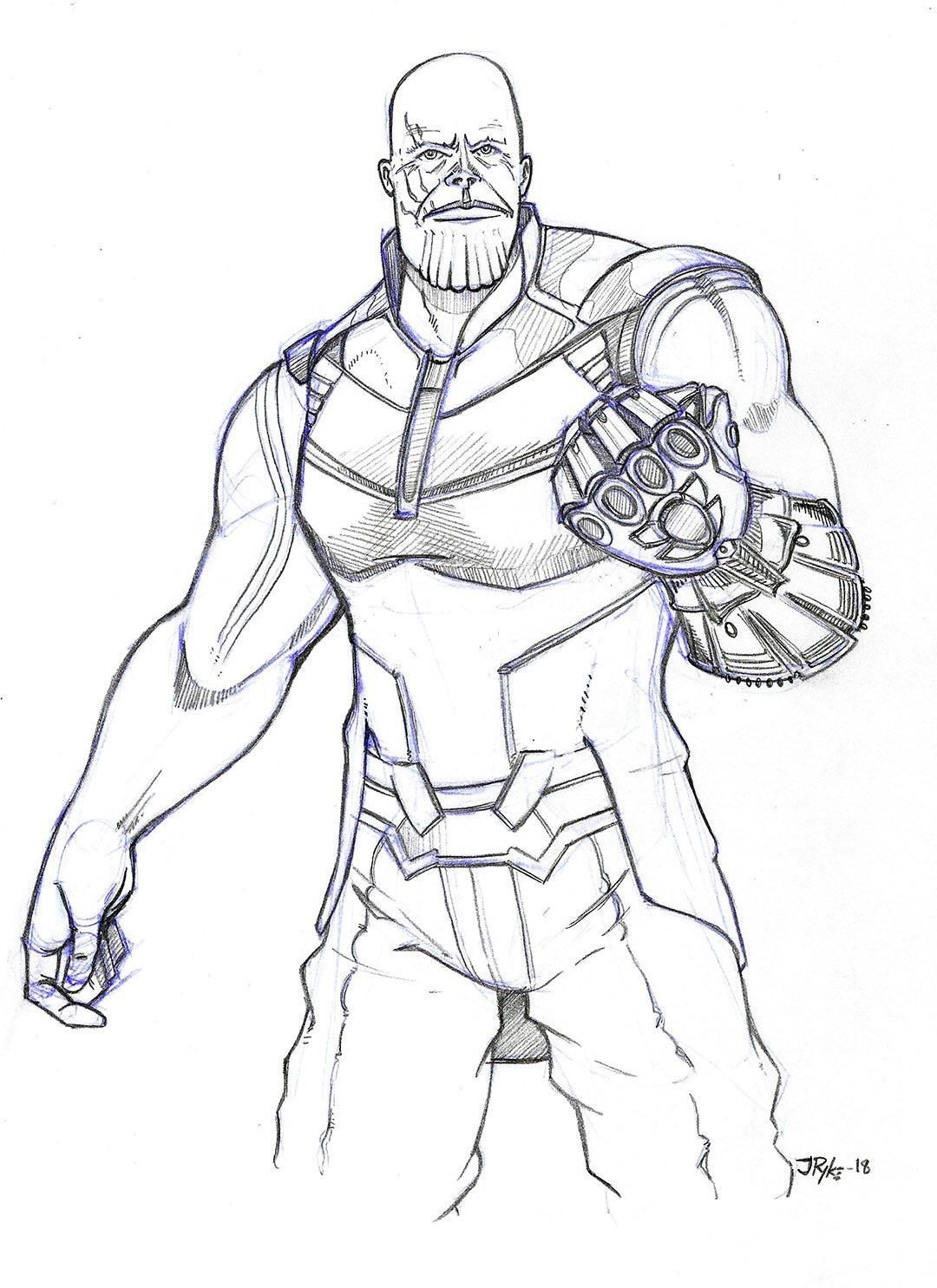 I drew thanos a few weeks back while i was going through the marvel marathon in anticipation for infinity war oc