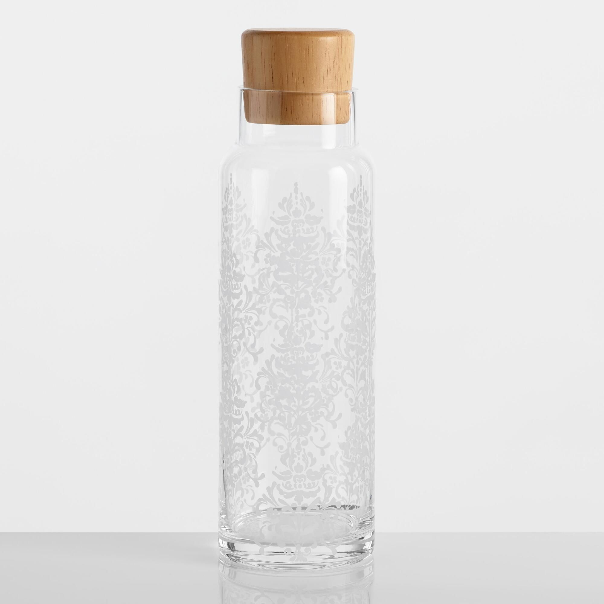 Sanctuary Glass Carafe With Wood Lid By World Market Glass Carafe