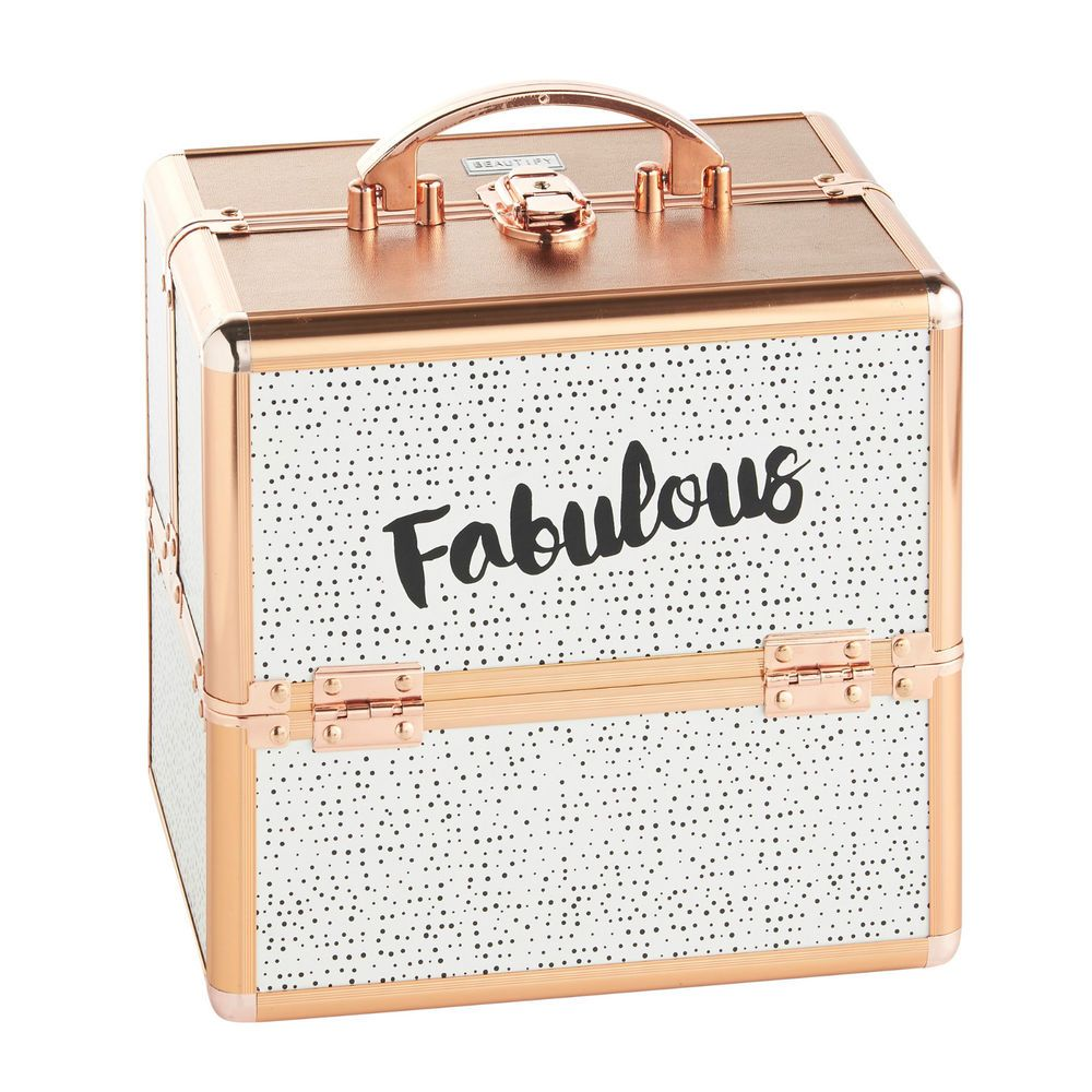 Beautify Small 'Fabulous' Dotty Beauty Case Cosmetic