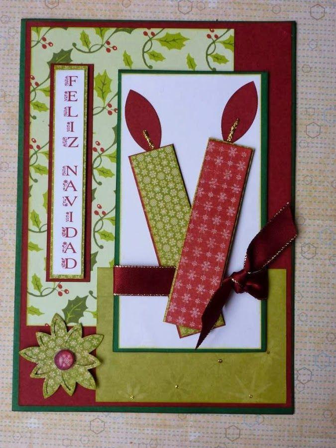 tarjeta navideña scrapbook - Busca de Google tarjetas navidad