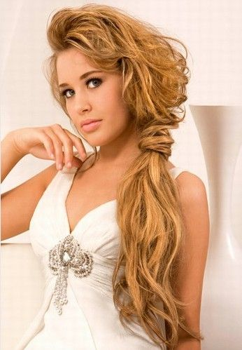 I Like This Without The Poofy Front Simple Wedding Hairstyles For Long Hair